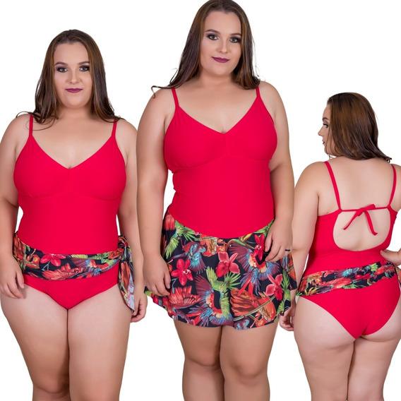 Maiô Canga Fixa Praia Plus Size 44/46/48 Maio Biquini