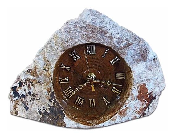 Relógio De Pedra Sabão Natural Rústico Exclusivo Promoção!