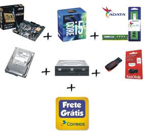 I5 7400 + Asus H110m-cs + Ddr4 16gb + Hd 1tb + Dvd + Frete