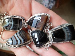 Lote De Semi-jóias Com Pedras Verdadeiras