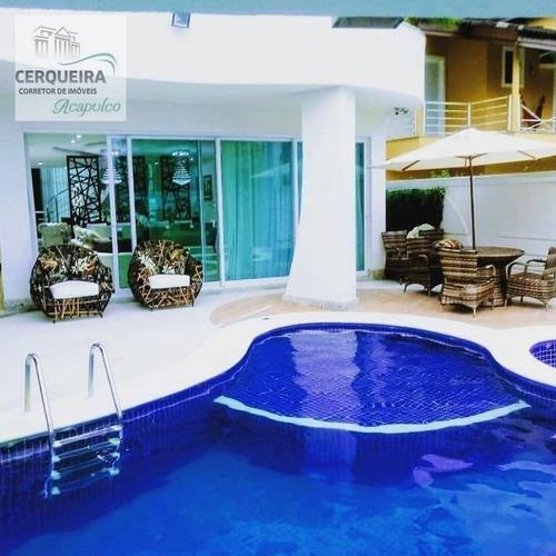 Casa À Venda, 614 M² Por R$ 3.800.000,00 - Acapulco - Guarujá/sp - Ca0610
