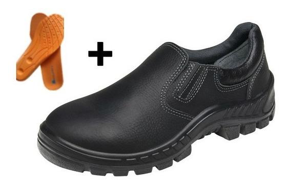Calçado Sapato Eletricista Mecânico Em Couro Macio Sku165 .