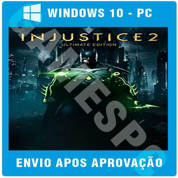 Injustice 2 Ultimate Pc Original Windows 10 Jogue Online