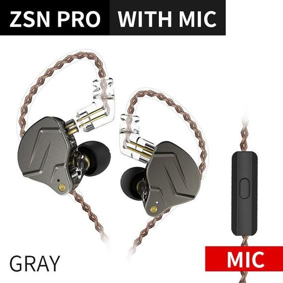 Fone De Ouvido Kz Zsn Pro Gray