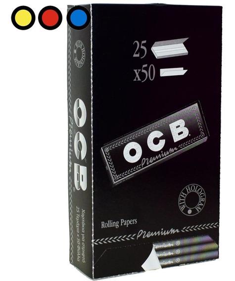 Papel Ocb Premium Negro 1 ¼ X 25