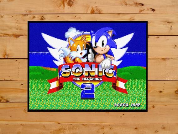 Quadro Decorativo Sonic The Hedgehog Sega Master System Game