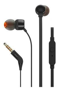 Fone De Ouvido Jbl T110 Preto Intra Auricular Com Microfone
