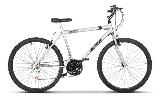 Bicicleta Bike Ultra Masculino Aro 26 Cinza Freio V Brake