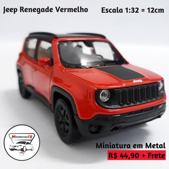 Miniatura Jeep Renegade Escala 1:32