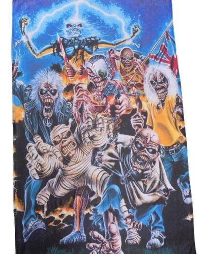 Bandera De Iron Maiden 1,60 X 1 Metro Rockería Que Sea Rock
