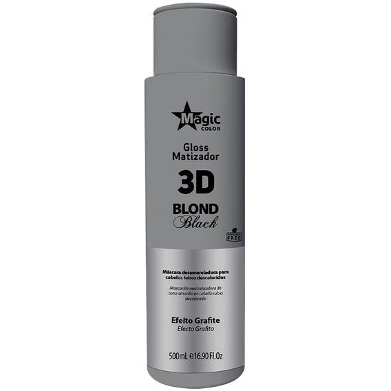 Matizador Magic Color Gloss 3d Blond Black Grafite 500ml