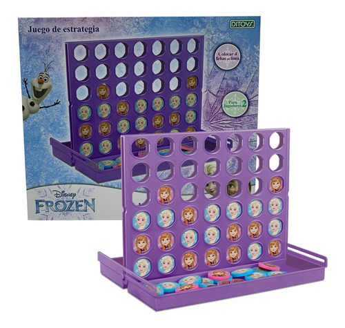 4 En Línea Frozen Disney Original Ditoys
