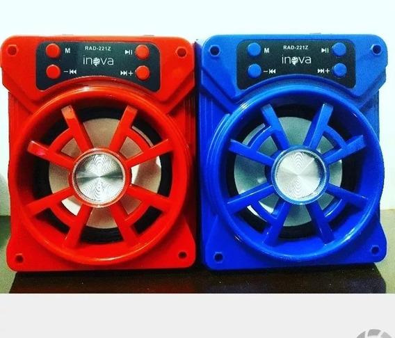 Caixa De Som Bluetooth Rádio Fm Sd Auxiliar Usb