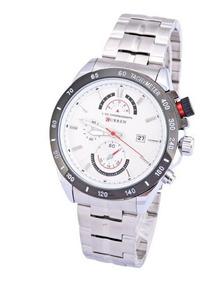 Relógio Masculino Social Curren Aço Inoxidável Prata 8148