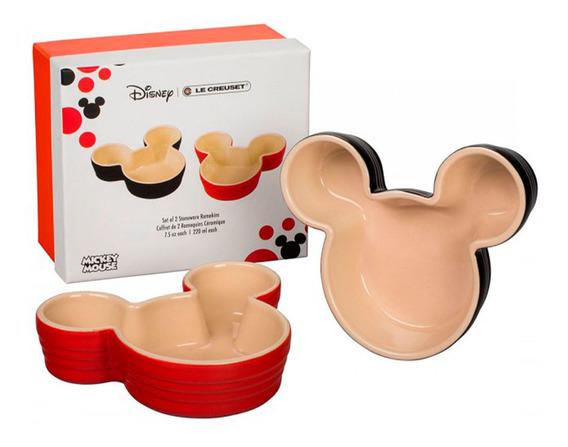 Ramekin Mickey Mouse 2 Peças Vermelho E Preto Le Creuset