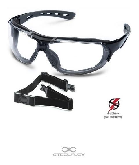 Óculos De Proteção Segurança Modelo Roma C/ Elastico