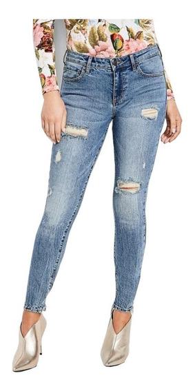 Pantalon Guess Distressed Sexy Curve Jeans Original