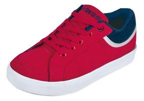 Tenis Sneaker Cklass Niños Textil Rojo 63140 Dtt