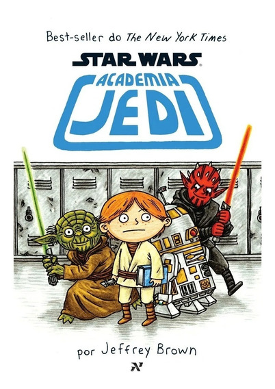 Star Wars Academia Jedi - 1° Livro - Jeffrey Brown - Novo Nf