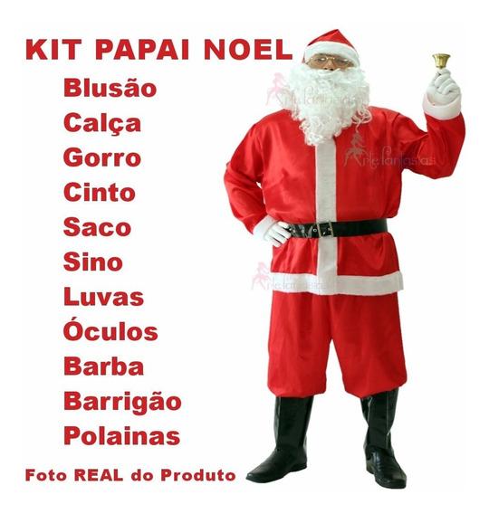 Roupa Para Papai Noel Tamanho Único Veste P M G Gg Até 50 U4