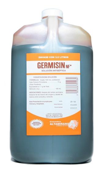 Desinfectante Solución Antiséptica Yodopovidona Germisin 3.5