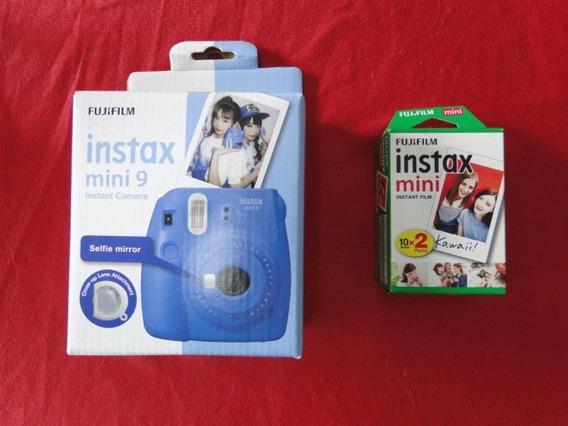Camera Fujifilm Instax Mini 9 + 20 Fotos Nunca Foi Usada