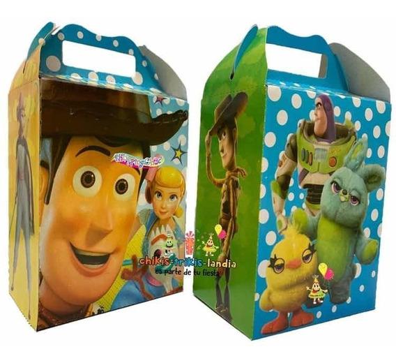Toy Story 4 - 50 Cajitas Dulcero Artículos De Fiesta Bolos