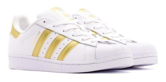 Tenis adidas Superstar Dourado Original