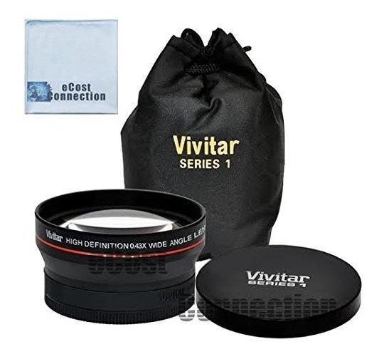 Lente Grande Angular Vivitar 0.43x 58mm Universal + Macro