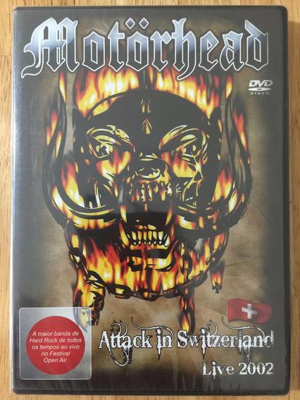 Dvd Motörhead Attack In Switzerland Live 2002 1ª Edição Novo