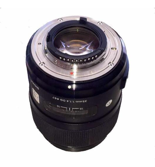 Lente Sigma 35mm F/1.4 Dg Hsm Para Nikon
