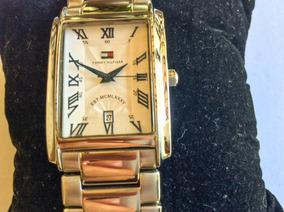 Luxuoso Relógio Tommy Hilfiger 40x25 Mm De Caixa Retangular