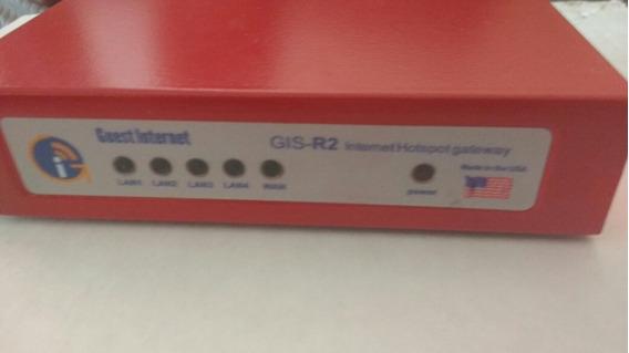 Roteador W. Guest Internet Gis-r2 Gateway Acesso Convidados