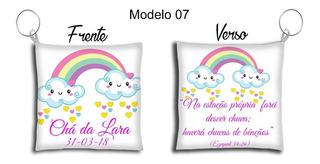 60 Chaveiros Almofada Personalizados Chuva De Bênção Nuvem