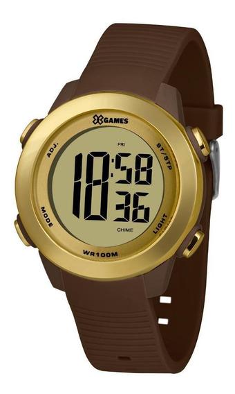 Relógio Feminino Dourado E Marrom Digital X-games