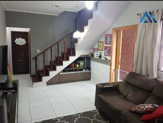 Sobrado Com 3 Dormitórios À Venda, 162 M² Por R$ 320.000 - Cidade Naútica - São Vicente/sp - So0019