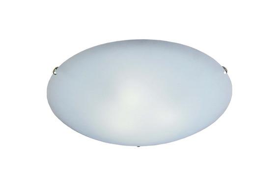 Plafon Clean 25 Cm Branco Com Fixador Cromado