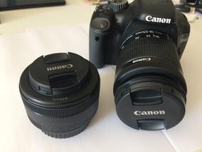 Canon 550d ( T2i ) Lente 50mm E 18-55mm, Cartão 32g + Extras