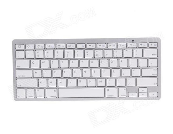 Teclado Wireless P/ iPad iPhone iMac Macbook Pc Tablet Wi-fi
