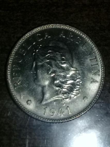 Moneda Argentina De 50 Centavos Año 1941