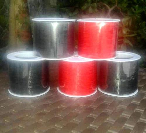 Hilo Chino Rollo Negro Y Rojo  45 M Excelente Calidad