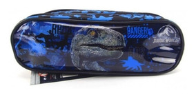 Estojo Jurassic World 2 Raptor Blue Duplo Dermiwil 51995