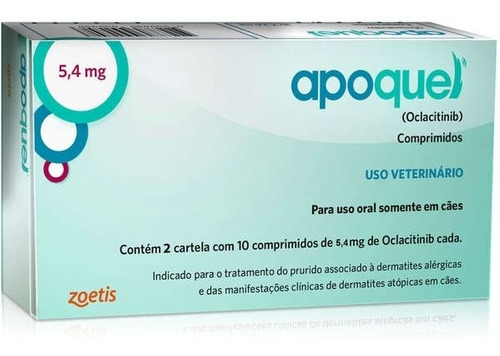 Apoquel Dermatológico Zoetis Para Cães 16mg