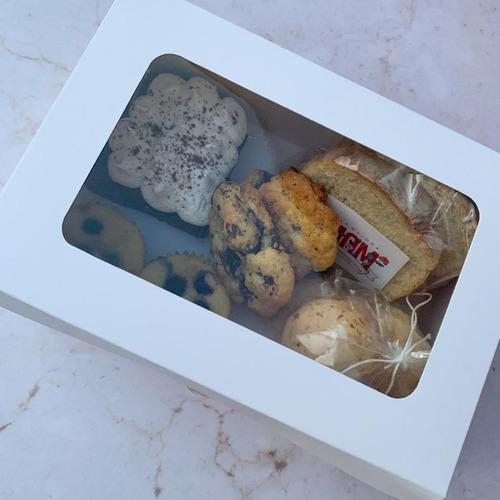 Caja Para Desayuno Mediana Blanca C/visor X 20 U.