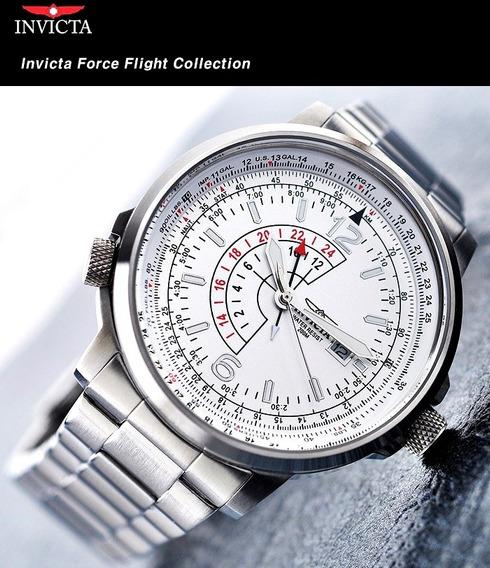 Relogio Invicta Original Masculino Novo Force Flight Prata