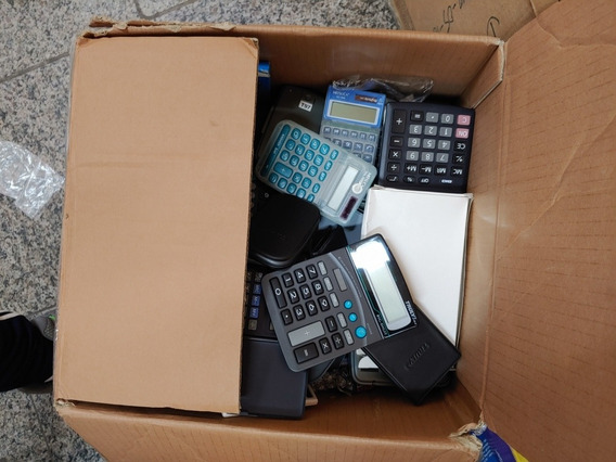 Calculadoras Diversos Mesa E Bolso - 10 Unidades Sortidos
