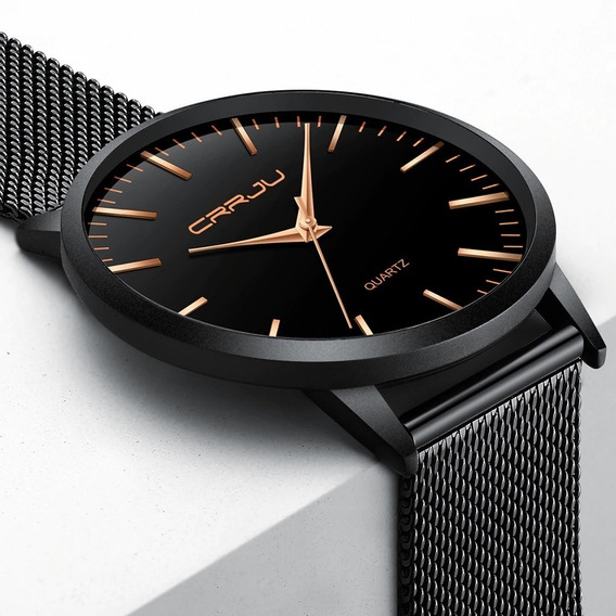 Relógio Masculino Casual Ultra Fino De Luxo Analógico Metal