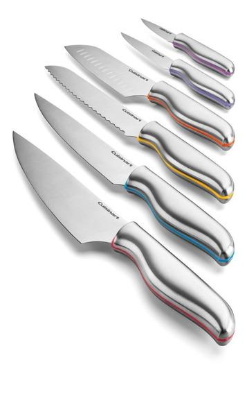 Set De Cuchillos De Acero C/ Protectores Cuisinart C77-12pcs
