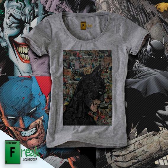 Remera Batman Comic Collage Mujer