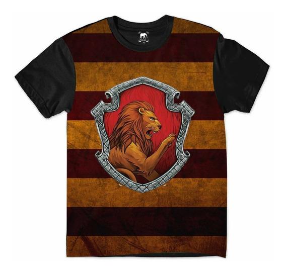 Camiseta Harry Potter Grifinória Hogwarts Leão